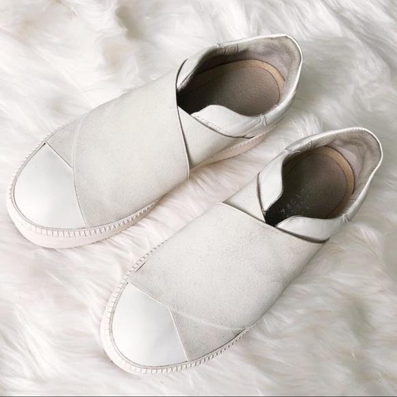 396fc7e975 Barneys New York Shoes - {Barney's ny} leather platform slip-on sneakers